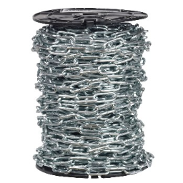 Campbell Chain 072-3627 Straight Link Coil Chain, Blu-Krome Finish  ~ 2/0 x 125Ft