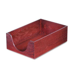 """Carver 5"""" H Hardwood Stackable Legal Tray  Mahogany"""
