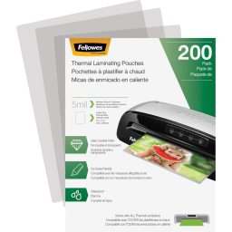 Fellowes 5 Mil Letter-Size Laminating Pouches  200/Pack