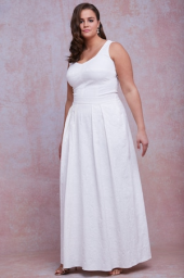 Plus Size Floral Jacquard Stretch Lined Maxi Skirt
