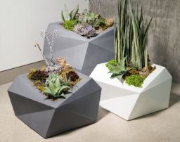 """Origami Planter 23"""" Tall"""