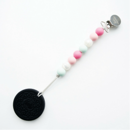 Cookie Teether with Clip - Mint