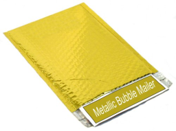 """Glamour Bubble Mailers - 16"""" x 17.5"""" - Metallic Gold - 50 Pieces = 1 Case"""