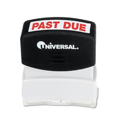 """Universal """"Past Due"""" Pre-Inked Message Stamp  Red Ink"""