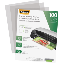 Fellowes 5 Mil Letter-Size Laminating Pouches  100/Pack