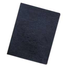 """Fellowes 7.5 Mil 8.75"""" x 11.25"""" Round Corner Leather-Like Texture Black Binding Cover  50/Pack"""