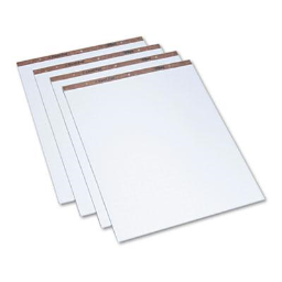 """TOPS 27"""" x 34""""  50-Sheet  4-Pack  Quadrille Ruled Easel Pads"""