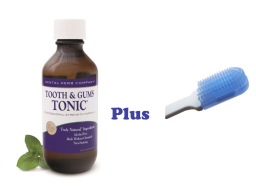 Tooth and Gums Tonic 18oz Bottle + FREE Dr. Tung's Compact Gumbrush