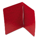 """Smead 3"""" Capacity 8-1/2"""" x 11"""" Prong Fastener Side Opening PressGuard Report Cover  Bright Red"""