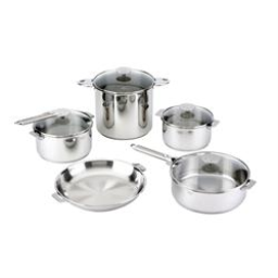 Cristel Multiply 5-Ply Casteline Stainless 13-Piece Cookware Set, Removable Handles