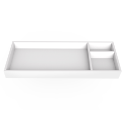 """Changing Tray-45"""" Wide - White"""