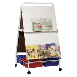 """Best-Rite Baby Folding Wheasel 29.75"""" x 43"""" Mobile Easel with Tubs"""
