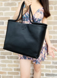 Tory Burch Taylor Tote Large Carryall Shopper Black