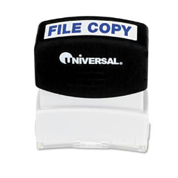 """Universal """"File Copy"""" Pre-Inked Message Stamp  Blue Ink"""