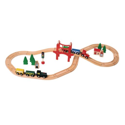 Excellerations® Wooden Track & Train Set - 40 Pieces