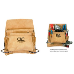 CLC 1823X Carpenter's Suede Leather Nail & Tool Bag ~ 8 Pocket