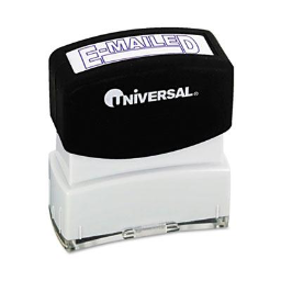 """Universal """"E-Mailed"""" Pre-Inked Message Stamp  Blue Ink"""