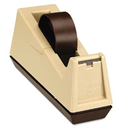 """Scotch Heavy-Duty Core Weighted Tape Dispenser  Putty/Brown  3"""" Core"""
