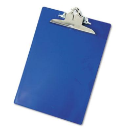 """Saunders 1"""" Capacity 8-1/2"""" x 12"""" Recycled Plastic Clipboard  Blue"""