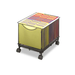 Safco Onyx File Cube Mesh Mobile Cart