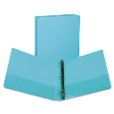 """Samsill 1"""" Capacity 8-1/2"""" x 11"""" Round Ring Fashion View Binder  Turquoise  2-Pack"""
