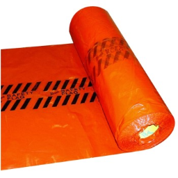 """Warp Bros RSF Plastic Safety Flags in Roll of 500 Units,  Red ~ 18"""" x 18"""""""