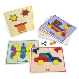 Excellerations® Pattern Block Picture Cards - Set of 20