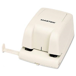 Master EP210 12-Sheet Electric/Battery Operated 2-Hole Punch