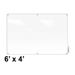 Ghent Harmony 6' x 4' Colored Magnetic Glass Whiteboard