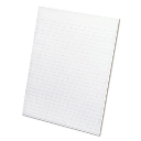 """Ampad 8-1/2"""" X 11"""" 50-Sheet 12-Pack Letter Rule Glue Top Pads  White Paper"""