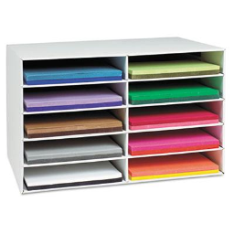 Pacon 10-Section Classroom Keepers Construction Paper Sorter