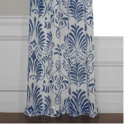 Xenia Blue Printed Sheer Curtain