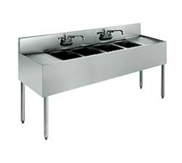 Krowne Stainless Steel Four Compartment Bar Sink - 18-64C