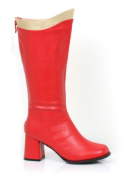 Red and Gold Super Hero Boots for Adults