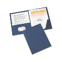 """Avery 1/2"""" Capacity 8-1/2"""" x 11"""" Tang Clip Two-Pocket Report Cover  Dark Blue  25/Box"""