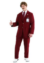 Deluxe Ron Burgundy Costume Suit