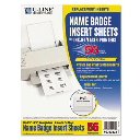 """C-Line 3-1/2"""" x 2-1/4"""" Additional Name Badge Inserts  White  56/Pack"""