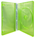 10 Clear Neon Green Xbox 360 Replacement Cases 14mm