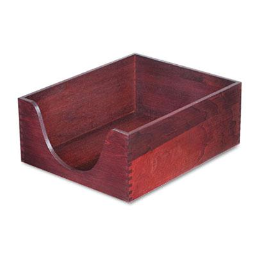 """Carver 5"""" H Hardwood Stackable Letter Tray  Mahogany"""