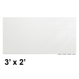 Ghent Aria 3' W x 2' H Colored Non-Magnetic Glass Whiteboard