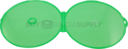 5mm Green Color Clamshell CD/DVD Case - 50