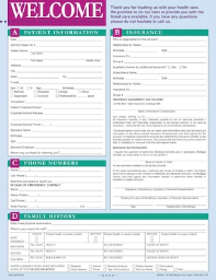 Medical Arts Press(r) Welcome Registration and History Form