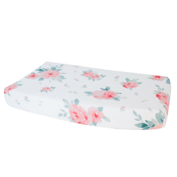 Rosy Luxury Muslin Changing Pad Cover