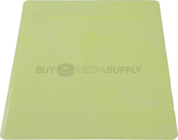 Non woven Yellow Color Plastic Sleeve CD/DVD Double-sided - 500