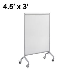Safco Rumba Painted Steel 4.5' x 3' Mobile Divider Reversible Whiteboard