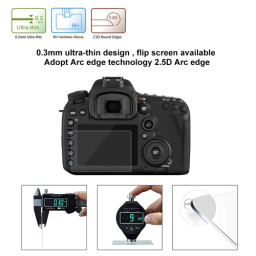 PULUZ Camera Screen Protective Films Polycarbonate Protect Film for Canon 7DMark II