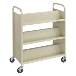 """Safco Scoot Double-Sided 6-Shelf School Book Cart  36"""" W"""