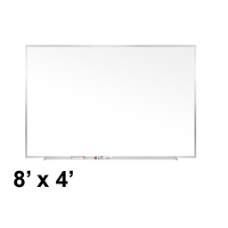 Ghent Traditional 8' x 4' Aluminum Frame Porcelain Magnetic Whiteboard