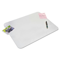 """Artistic 20"""" x 36"""" Krystal View Desk Pad with Microban  Matte Finish  Clear"""