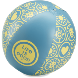 Life is Good LIG Beach Ball in Seaport Blue